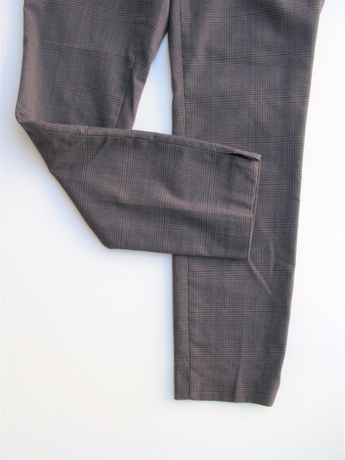 Pants Ankle Pants British Khaki Slim Crop Plaid Ankle Pants Zip Pockets 2 $98