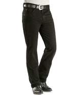 Wrangler Men's Cowboy Cut Slim Fit Jeans, Black, Size 30x38 - $39.59
