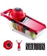 Vegetable Slicer Fruit Cutter Multi Function Peeler Food Grater Stainles... - £12.71 GBP+