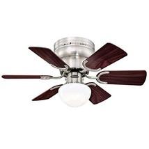 Westinghouse Lighting 7230700 Petite Indoor Ceiling Fan with Light, 30 Inch, Bru - $115.60