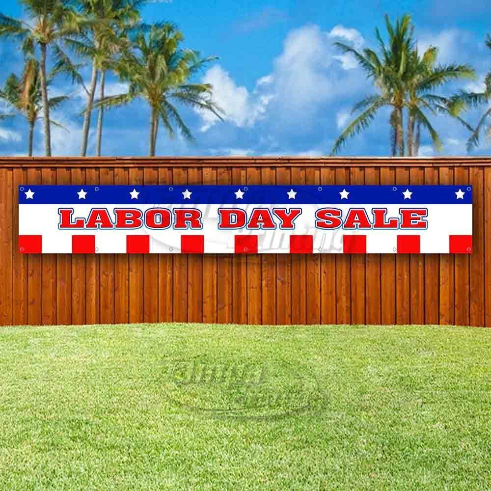 Primary image for LABOR DAY SALE Advertising Vinyl Banner Flag Sign LARGE HUGE XXL SIZES