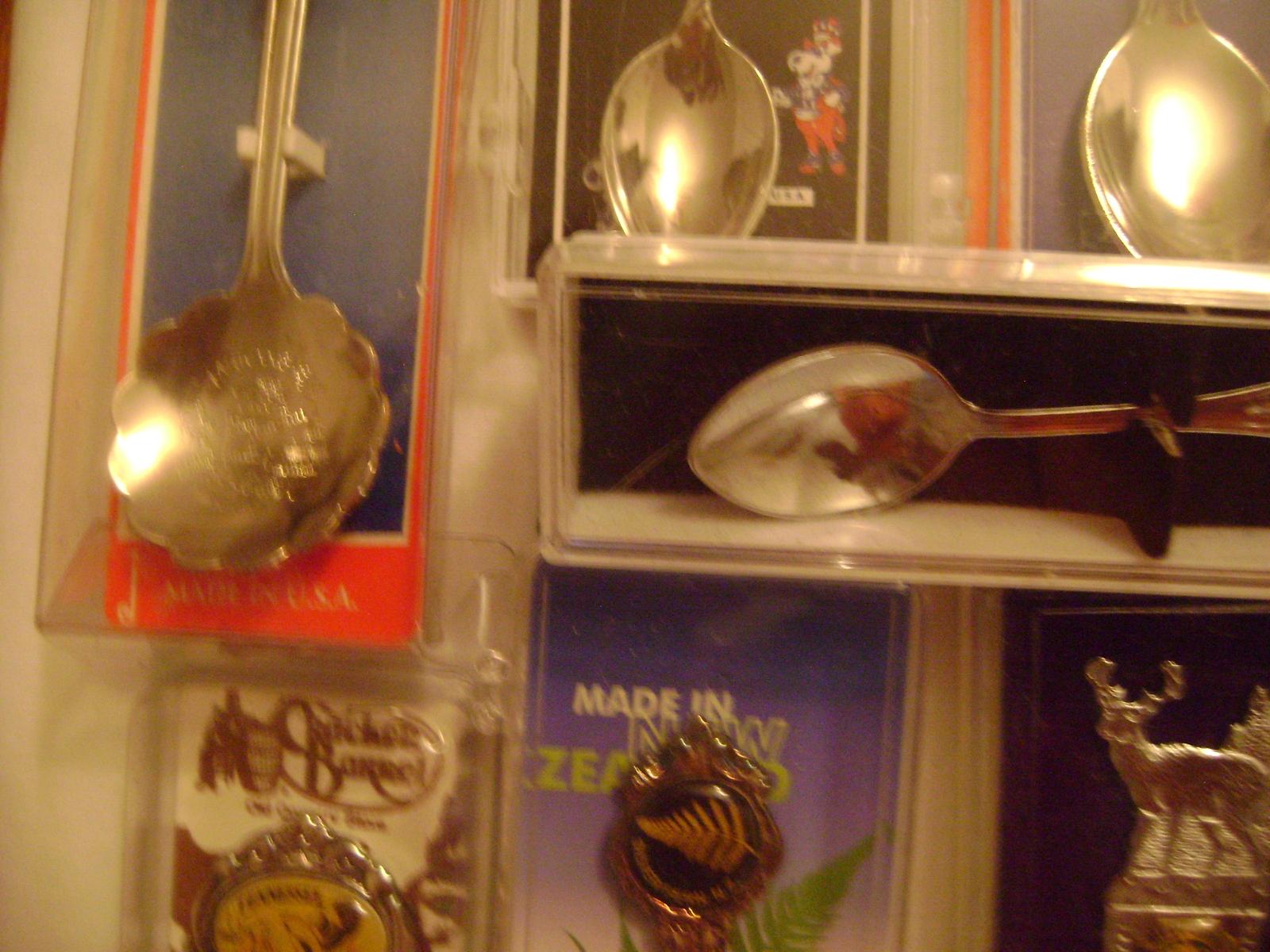 Black Friday Sale Collectible Silver Plate Souvenir Spoons Lot USA & Internation