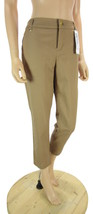 Charter Club Women's Classic Fit Warm Tan Slim Leg Ankle Soft Pants, NWT 6P - $13.44