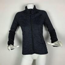 Athleta Fleece Jacket Zip up Gray Women Sz S - $46.99