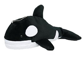 Black Little Whale Shape Plush Animal Stationery Case Bag - $59.26