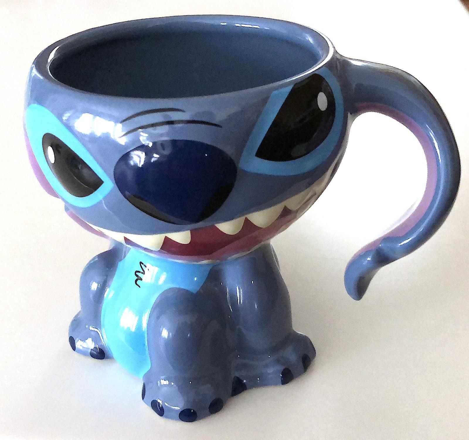 Disney Parks Stitch Figurine Ceramic Mug New Mugs Glasses