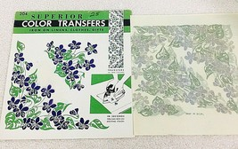 Vintage Superior Color Embroidery Transfers #204 Devon Violets & Leaf's   - $6.44