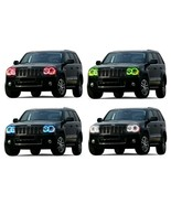 LED Headlight Halo Ring RGB Multi-Color Kit for Jeep Grand Cherokee 05-10 - $137.91