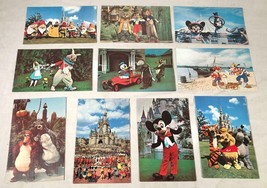 10 Vtg 1970S Walt Disney World Unposted Postcards Characters Cast Members - $34.64