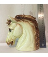 Vintage Relpo Horse Head Planter 6739 Yellow Retro 1960s/70s Pen Holder ... - $49.49