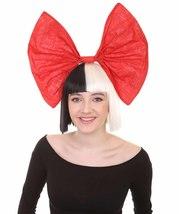 Wig for Australian Singer Black & White Small Red Bow HW-209 - $26.85