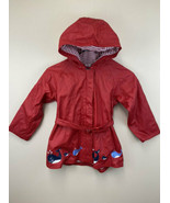 Gymboree Whale Watching 6 Red Hooded Raincoat Rain Jacket READ Vintage - $19.99