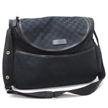AUTHENTIC GUCCI GG Shoulder Bag Black GGCanvas 123326 - $570.00