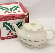 Longaberger Traditional Holly Large Tea Pot   - $39.19