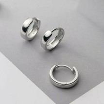 TRUSTA 925 Sterling Silver Men's Women's 12mm Huggie Hoop Earrings [EAR-... - $14.48