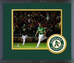 Matt Olson 2018 Oakland A's- 11x14 Team Logo Matted/Framed Photo - $43.95