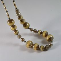NECKLACE ANTICA MURRINA VENEZIA MURANO GLASS SPHERES YELLOW BROWN, 45 CM image 4