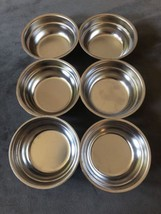 6 mini Chrome Bowls Saucers Cups Dressing Holders - $15.00
