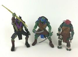 """Teenage Mutant Ninja Turtles Movie 3pc Lot 5"""" Figures Donatello Leonardo... - $21.73"""