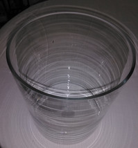 "8OO86 Clear Glass Hurricane, 7-13/16"" Diameter 9-1/2"" Tall, Candle Holder, Vgc - $24.63"