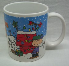 "PEANUTS ""MERRY CHRISTMAS CHARLIE BROWN"" 4"" CERAMIC MUG Lucy Snoopy - $16.34"