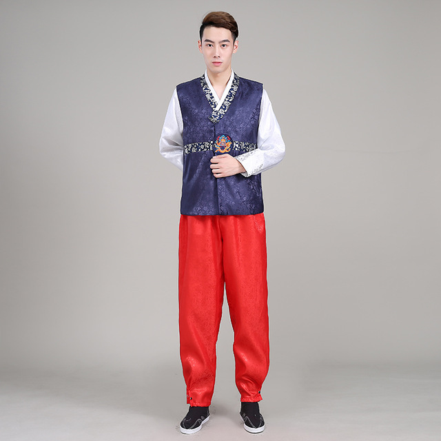 Trendy Hanbok Men Korean Traditional Clothing Charm National Costume Stage Dress - Other