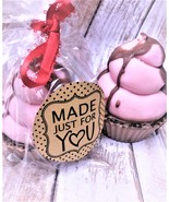 cotton candy and chocoalate cupcake soap, bath and body, health and beauty - $8.00