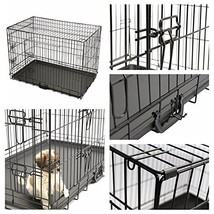 Magshion XS-XL 5 Sizes Travel Folding Metal Dog Crate Kennel House M-30inch - $37.18