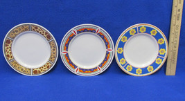 3 Gibson Saucer Plates Soleil Animal Print & Flower Border Discontinued Patterns - $11.87