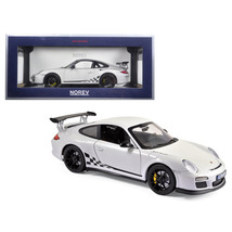2010 Porsche 911 GT3 RS White and Black Trim 1/18 Diecast Model Car by N... - $104.74