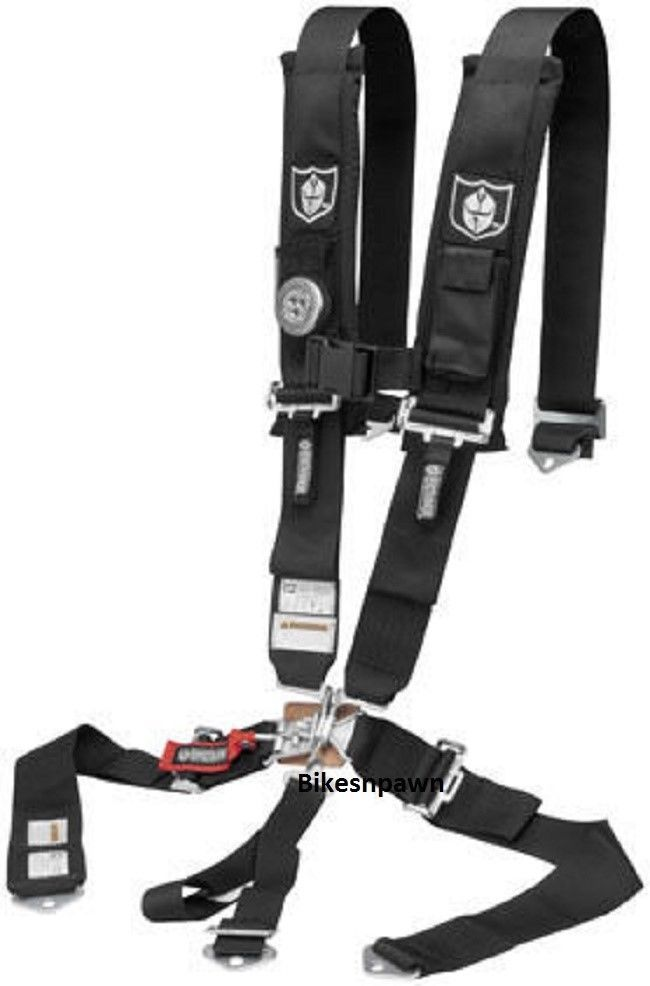 "New Pro Armor Black 5 Point Safety Harness Seat Belt RZR, Rhino 3"" Pads A115231"