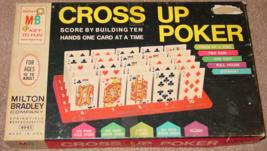 CROSS UP POKER CARD GAME 1968 MILTON BRADLEY COMPLETE - $20.00