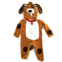 Playful Pup Costume 12M Brown Dog DressUp Jumpsuit & Hood Q3MP - $15.00