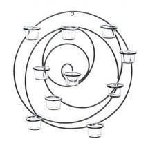Circular Metal Wall Tealight Candleholder - $31.99