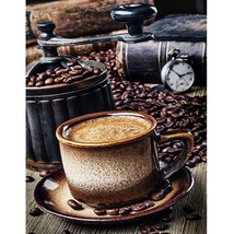 "Coffee Cup 16X20"" Paint By Number Kit DIY Acrylic Painting on Canvas Fra... - $8.90"
