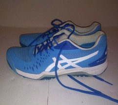 ASICS Women's Gel-Challenger 12 Size 7.5 Blue/White Preowned No Box - $49.49