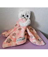 Blankets and Beyond Owl Security Blanket Pink White Grey Soft Baby Girl ... - $13.74