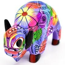 Handmade Alebrijes Oaxacan Wood Carved Buffalo Bison Painted Folk Art Figurine image 2