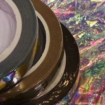 SEALED Papergeek Paper Geek Gold Foil 3x Autumn Hues WASHI TAPE Moon Phase Mauve image 4