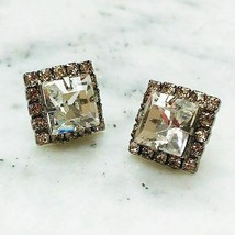 Sorrelli Square Cut Clear and Soft Pink Crystal Post Earring - $48.51