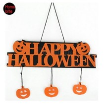 Halloween Decoration HAPPY HALLOWEEN Hanging Hangtag Halloween Window De... - £3.73 GBP