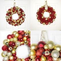 NEW Handmade Christmas Ornament Wreath Red and Gold Santa Belt - $69.25