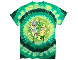 Ripple Junction Rick and Morty Large Portal Adult T-Shirt Medium Green T... - $34.39