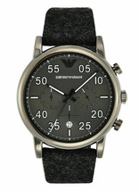Brand New Emporio Armani AR11154 Luigi Chronograph Grey Fabric Strap Men's Watch - £122.87 GBP