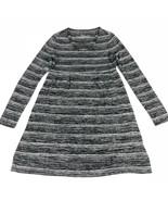 Soma Womens Sweater Dress XS X-Small Gray Striped Short Long Sleeve Live... - $16.18
