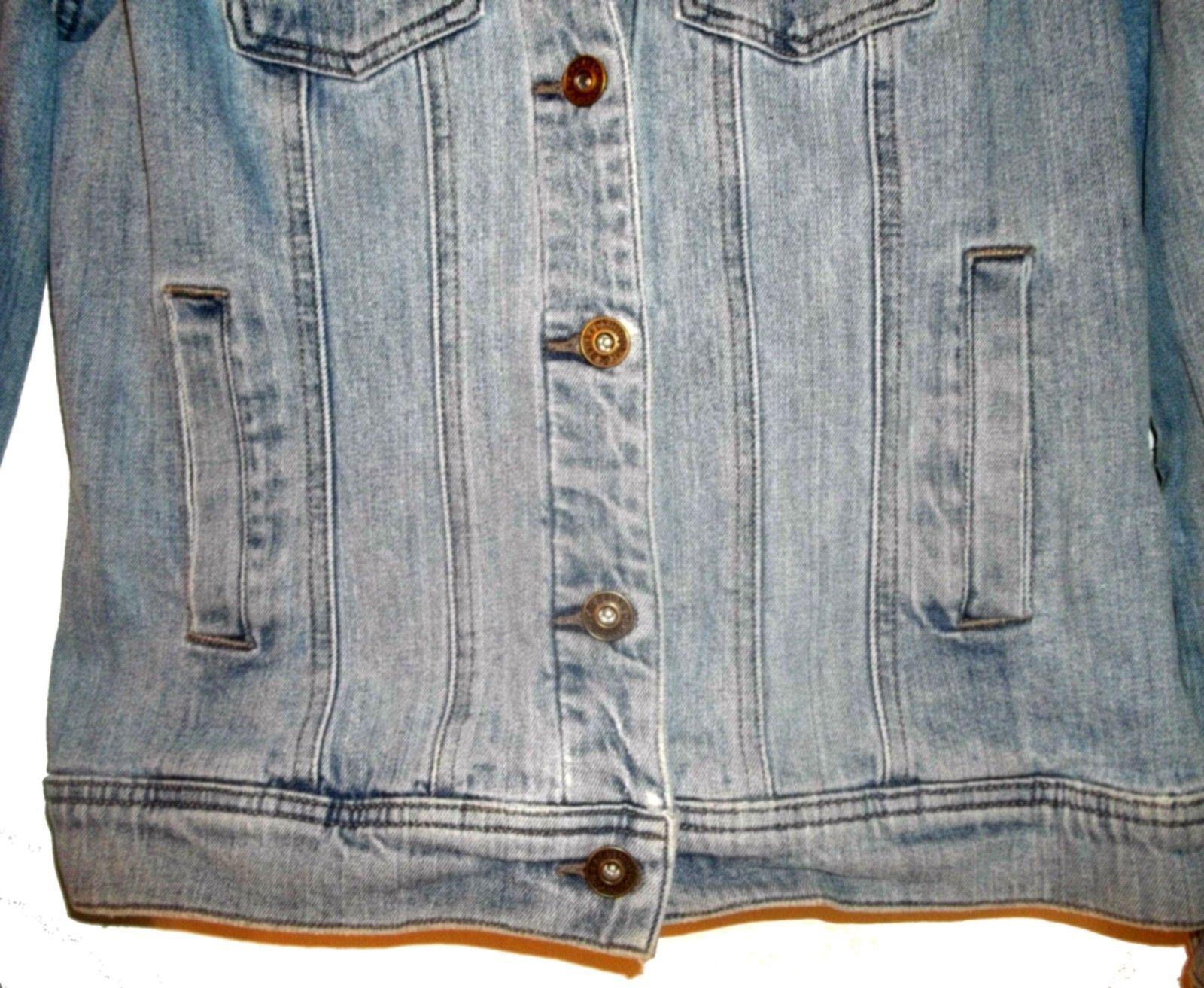 Sz S - Christopher & Banks Blue Jean Denim Jacket w/4 Front Pockets