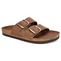 WHITE MOUNTAIN Shoes Helga Women's Sandal, Brown/Leather, 6 M - $39.08