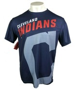CLEVELAND INDIANS MLB PERFORMANCE T-SHIRT BY FOCO MEDIUM OR LARGE FREE S... - $15.00