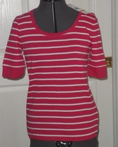 *JONES NEW YORK SPORT KNIT TOP SHIRT SIZE S -PS RED WHITE STRIPE BLUE NWT - $15.99