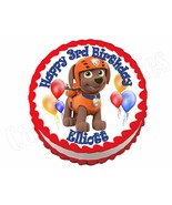 Paw Patrol Zuma ROUND edible cake image frosting sheet topper decoration - $8.86